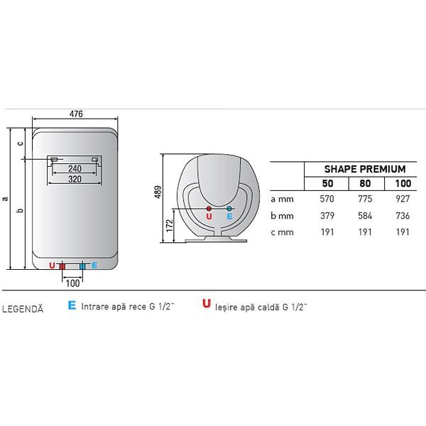 Boiler ariston shape premium 100 for Ariston shape premium 100