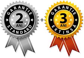 2 ani garantie standard + 3 ani garantie extinsta