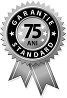 75 ani garantie standard